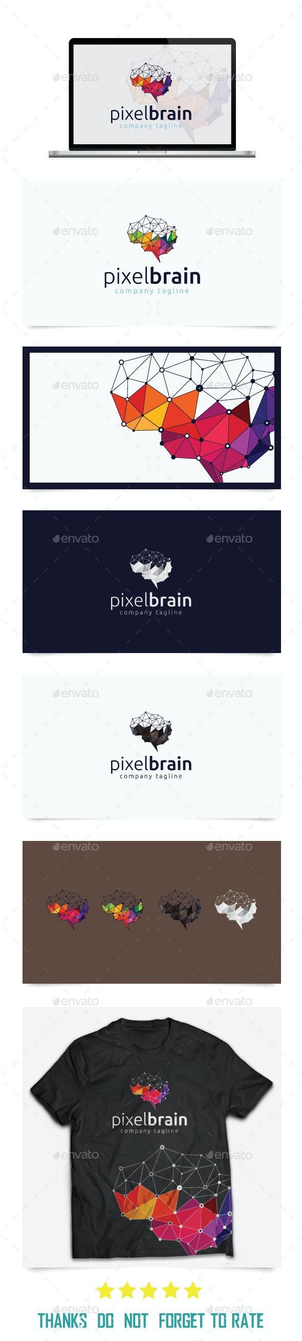 Pixel Brain Logo Templates - Abstract Logo Templates