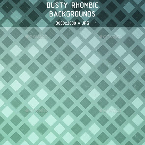 Dusty Rhombic Backgrounds
