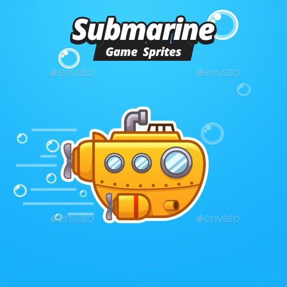 Submarine Game Sprites