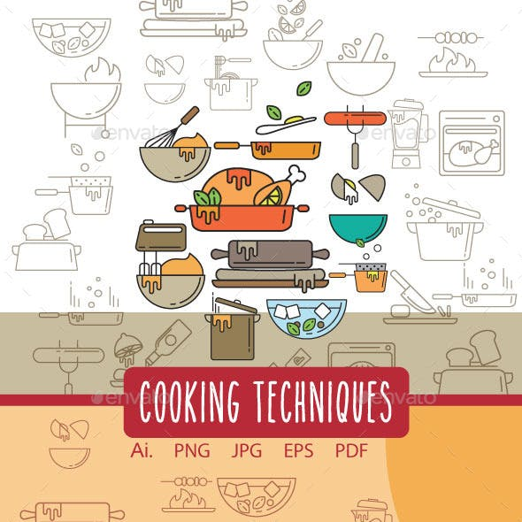 Cooking Techniques Icons