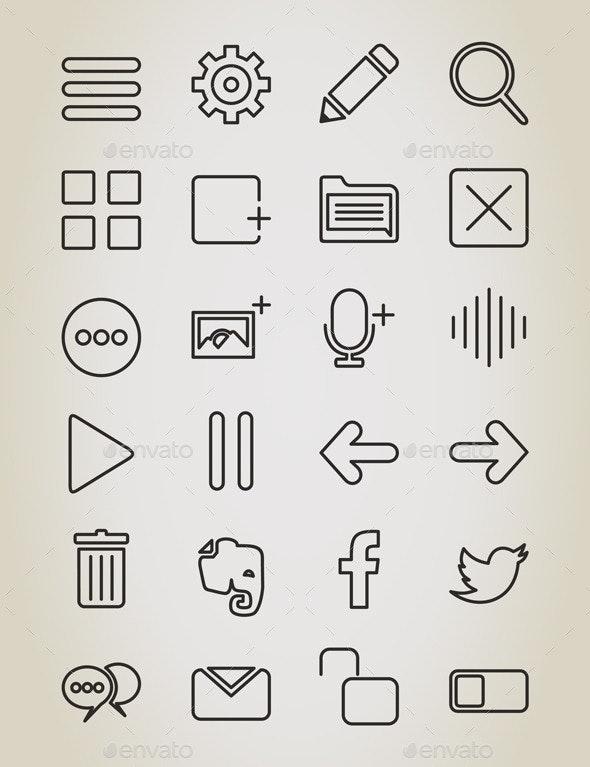 Web Outline Icon - Web Elements Vectors