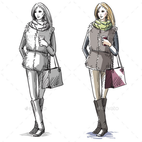 Fashion Illustration - People Characters