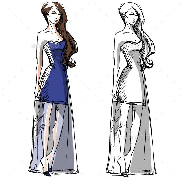 Fashion Hand Drawn Illustration