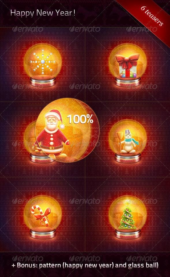 Tesears «Happy New Year!» - Illustrations Graphics