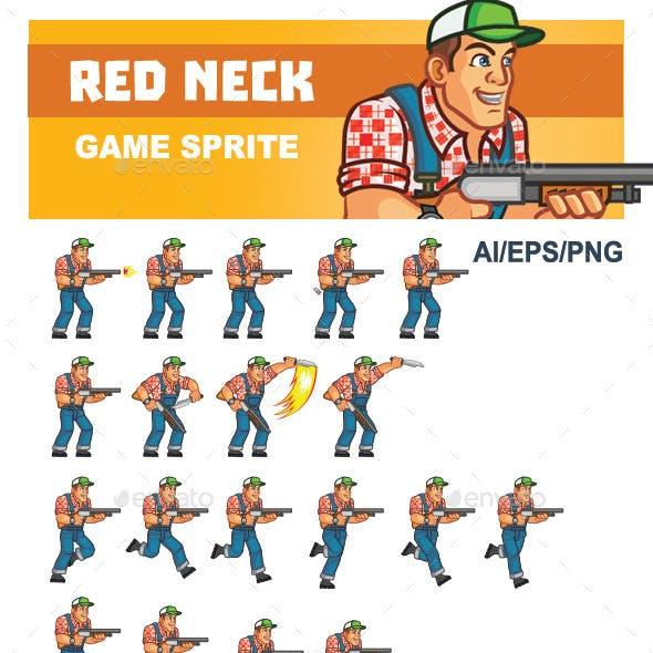 Red Neck Game Sprite