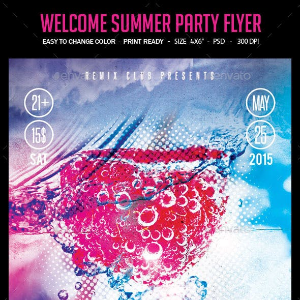 Welcome Summer Party Flyer