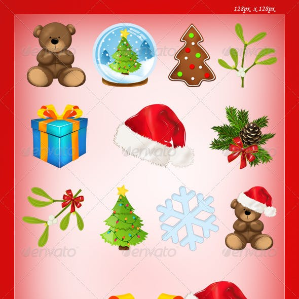 Set of 11 Christmas Icons - Vol.2