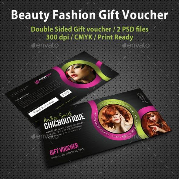 Beauty Fashion Gift Voucher V05