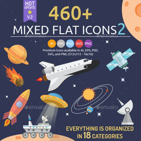 460 Mixed Flat Icons 2