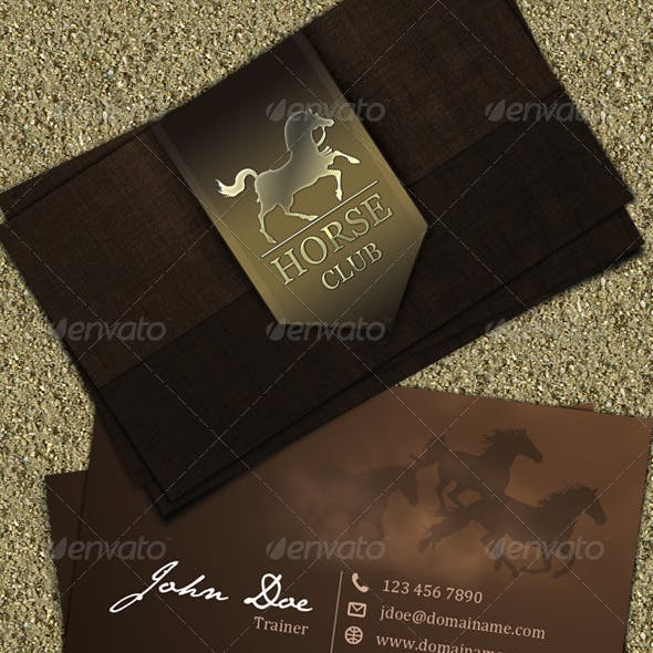 Horse Club Business Card