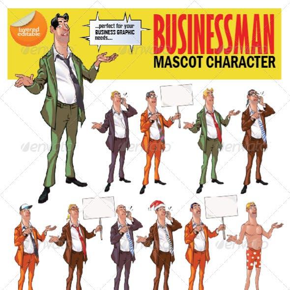 Businessman Mascot Character