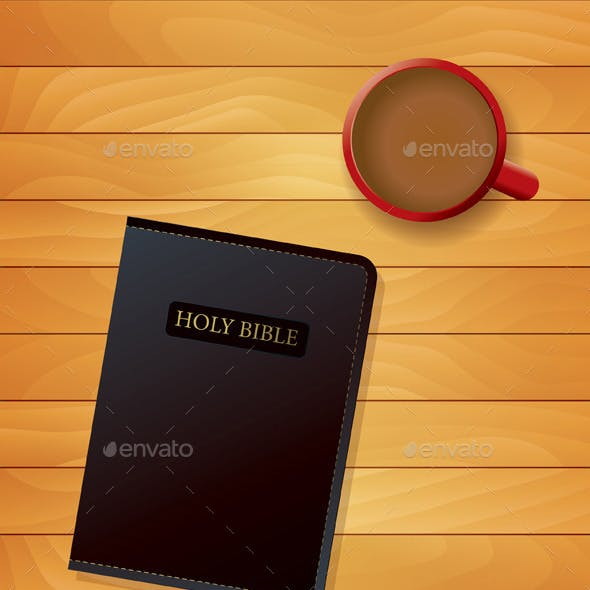 Bible and Coffee Devotional Concept