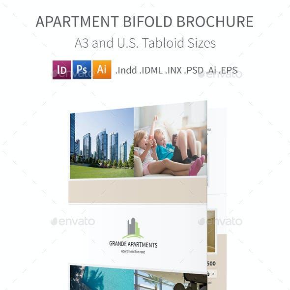 Apartment Real Estate Bifold / Halffold Brochure