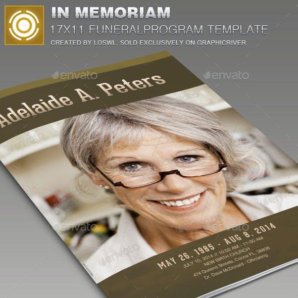 In Memoriam Funeral Program Template 008