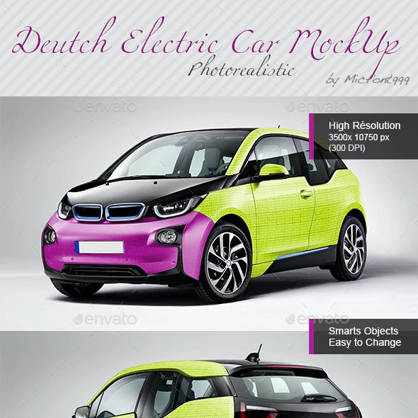 Photorealistic Deutch Electric Car Mock-up