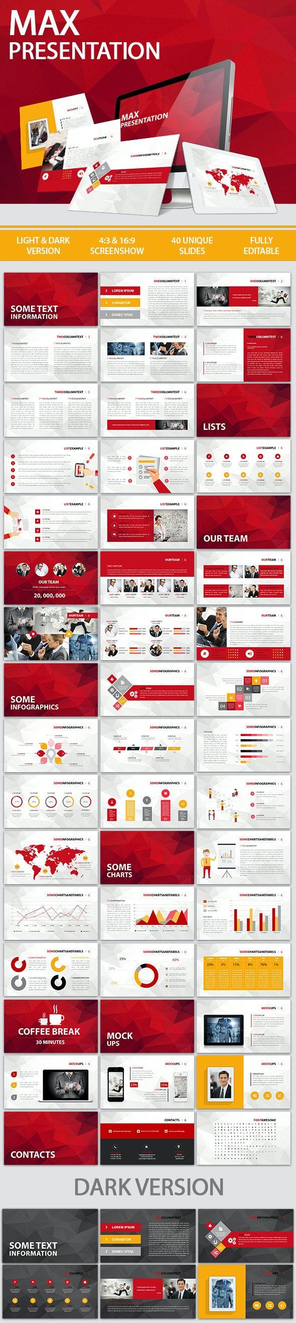 Max Presentation - PowerPoint Templates Presentation Templates