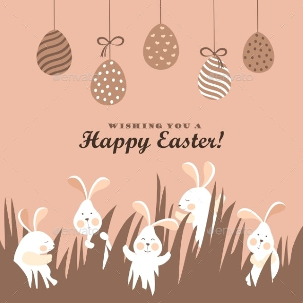 Easter Bunnies and Easter Eggs  - Miscellaneous Seasons/Holidays
