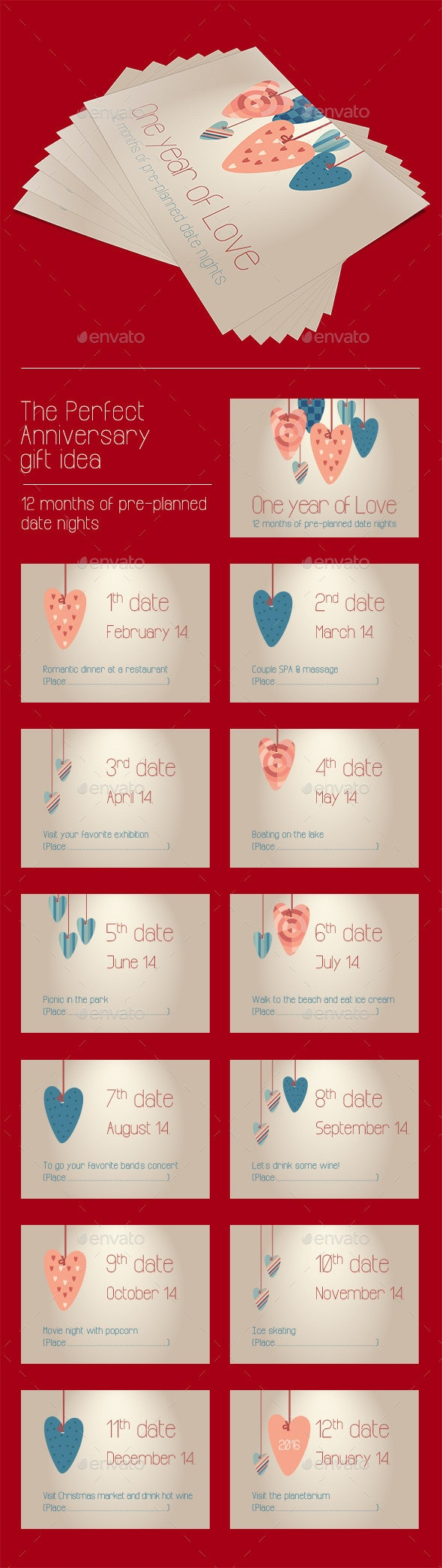 Anniversary Gift Coupon Cards - Family Cards & Invites