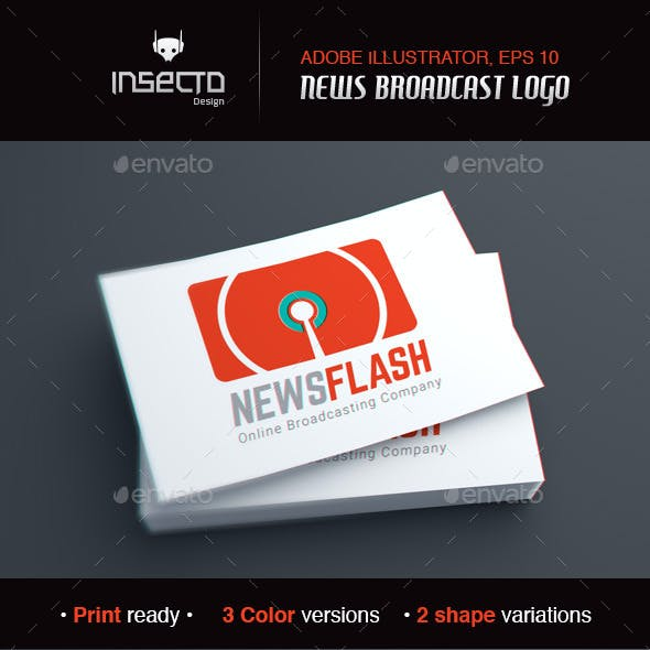 Online News And Podcast Modern Logo Template