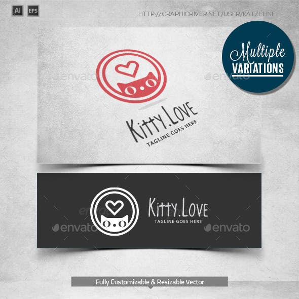 Kitty Love - Logo Template