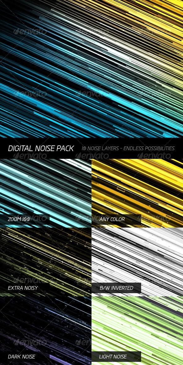 Digital Noise Pack - Tech / Futuristic Backgrounds