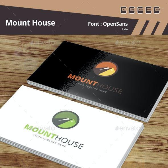 Mount House Logo Template