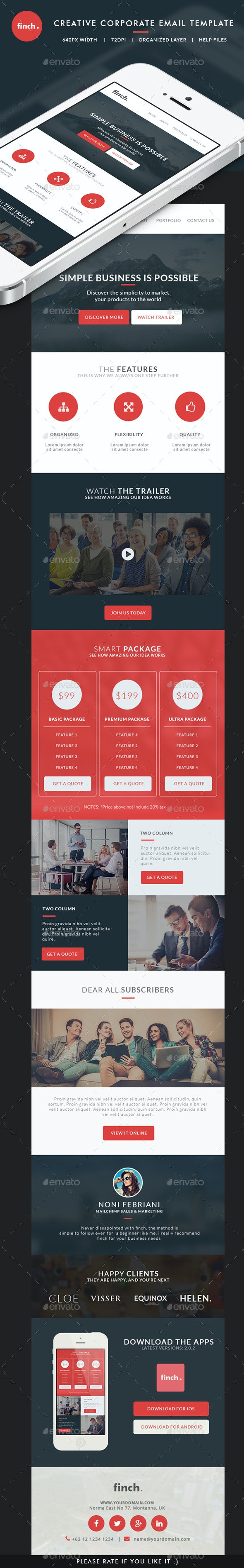 Corporate Email Template - finch
