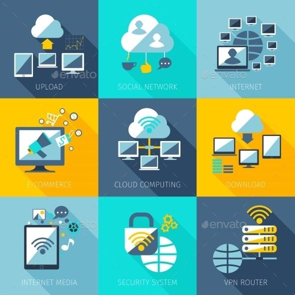Network Concept Set - Computers Technology