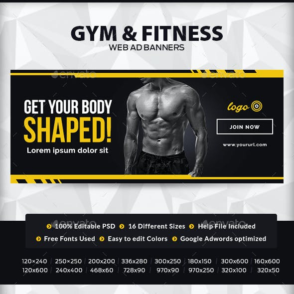 Gym and Fitness Banners