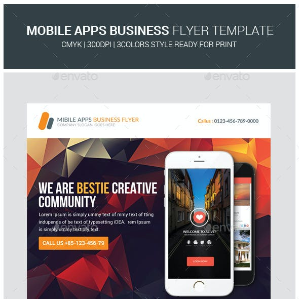 Mobile Apps Promotion Flyers Templates