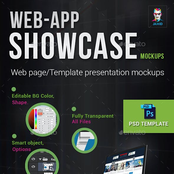 Web-App Showcase Mockups