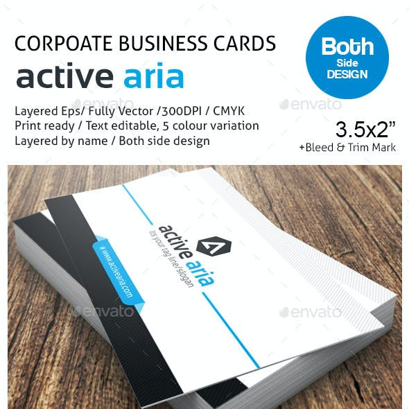 active aria Corporate Business Cards