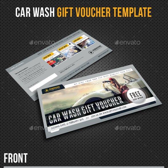 Car Wash Gift Voucher Template V03