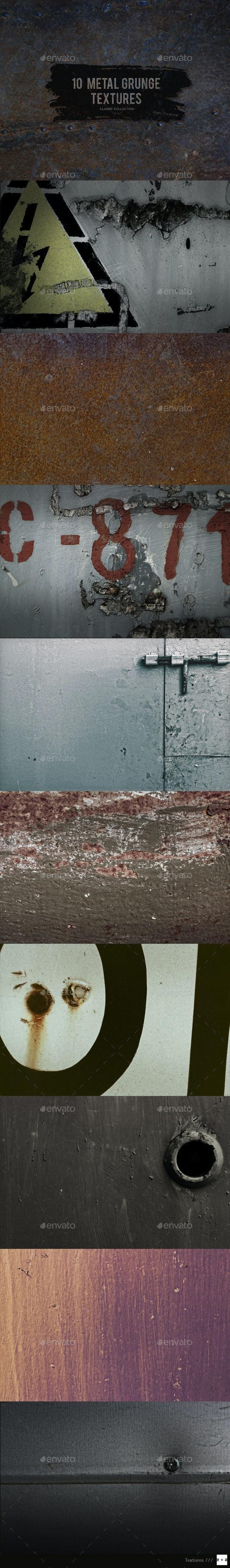 10 Metal Grunge Textures - Industrial / Grunge Textures