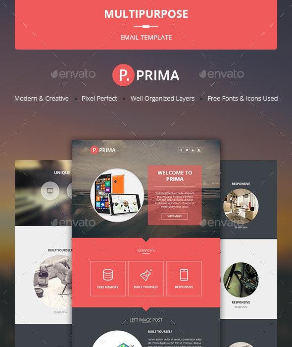 Prima - Multipurpose Email Template