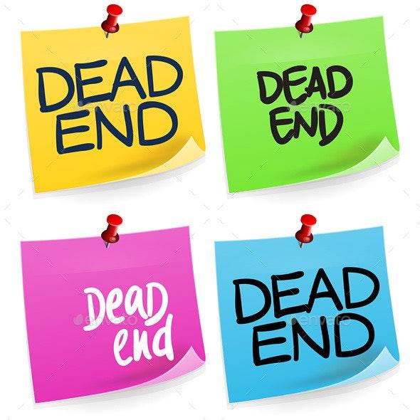 Dead End Sticky Note - Decorative Symbols Decorative