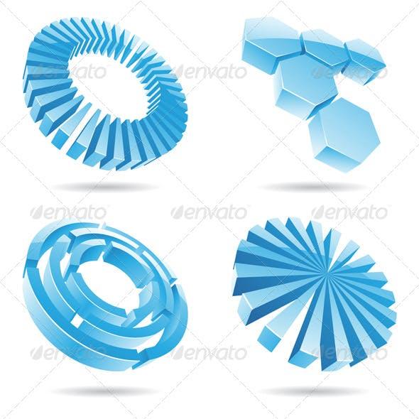 3d Ice Blue