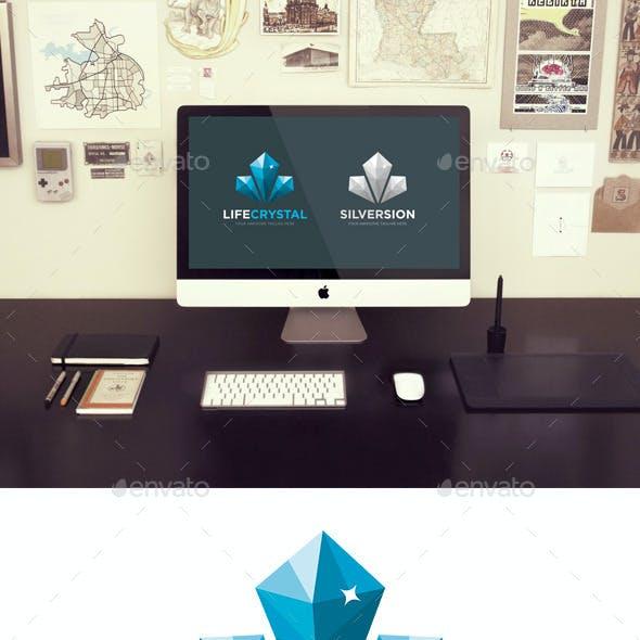 Life Crystal Logo Template