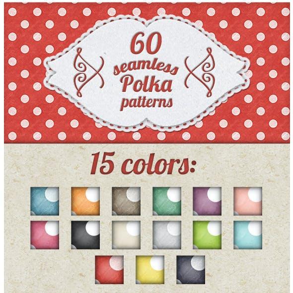Vintage Polka Dots Patterns for Photoshop