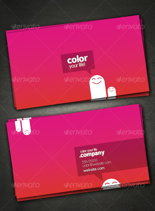 Colorful Card - Creative Business Cards