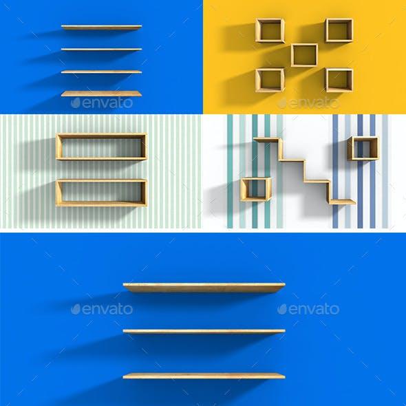 Wood Shelves Set ( + SNS icon)