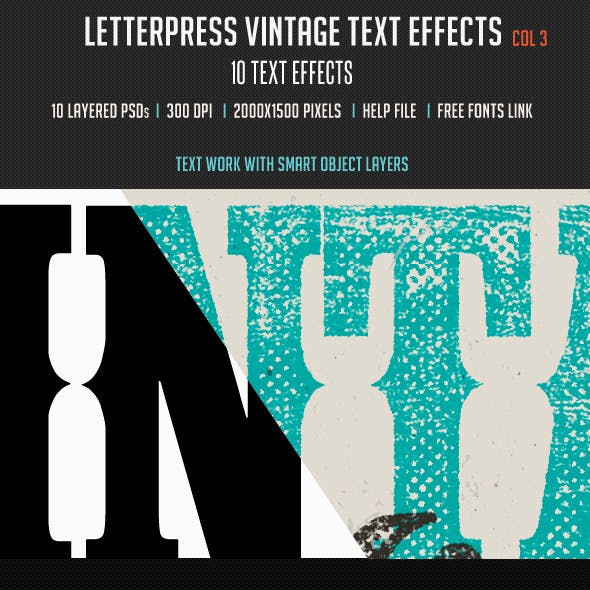 Letterpress Vintage Text Effects 3