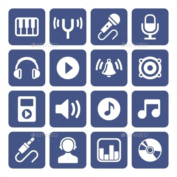Music Icons Set - Technology Icons