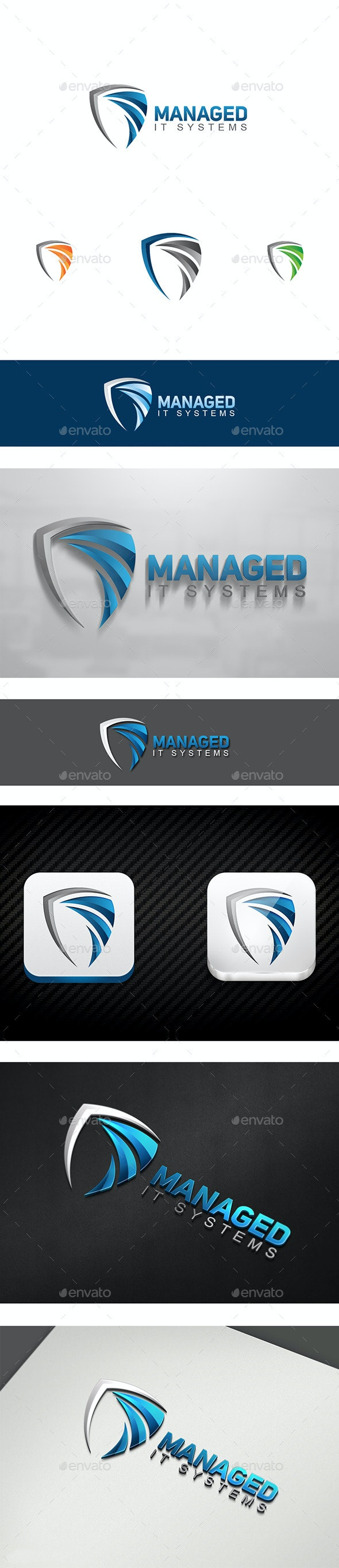Managed IT - Objects Logo Templates
