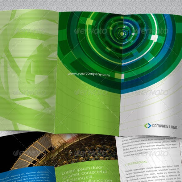 High Tech Brochure Tri-Fold