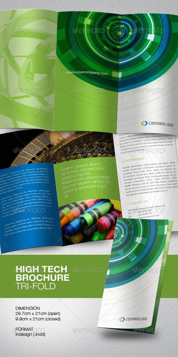 High Tech Brochure Tri-Fold - Corporate Brochures