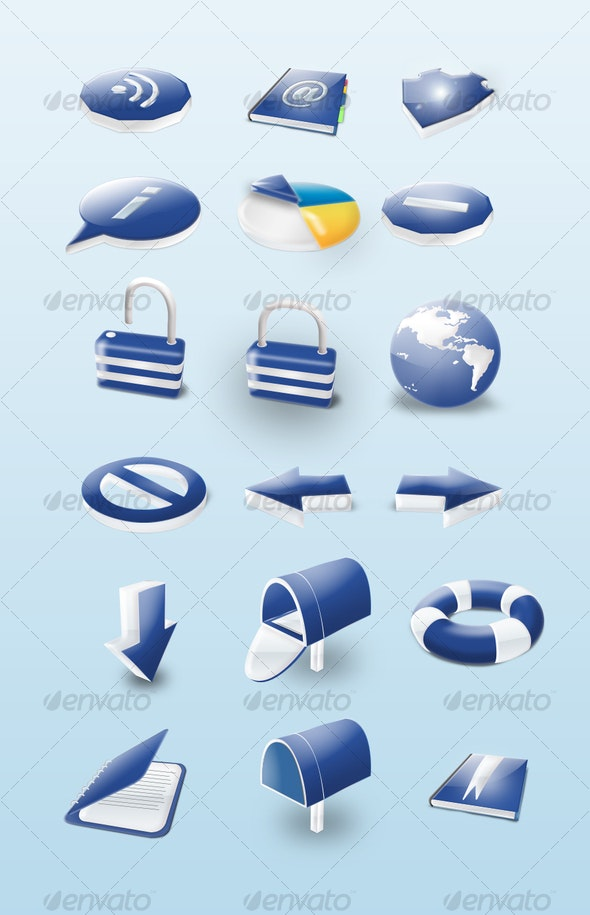 3d ctystal Icons - Web Icons
