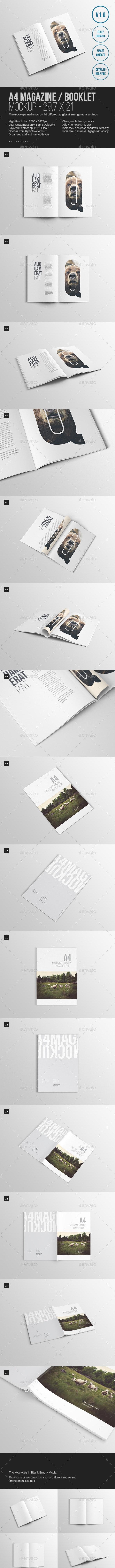 A4 Magazine Mockup - Magazines Print