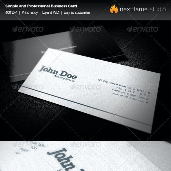Simple and Professional Business Card