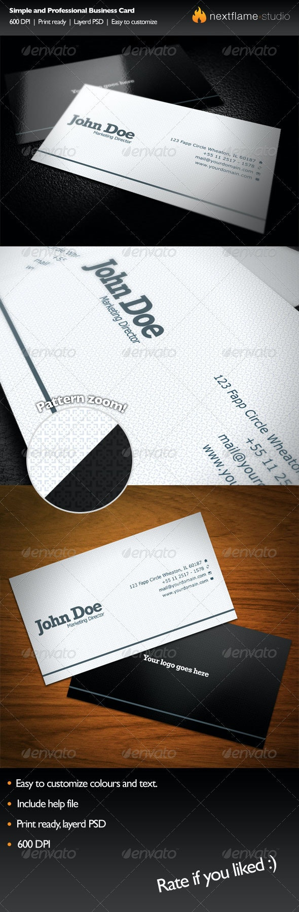 Simple and Professional Business Card - Corporate Business Cards